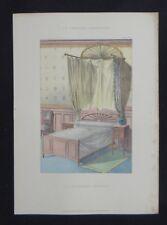 LA TENTURE FRANÇAISE 1905 - Lit moderne anglais - décoration tapisserie 95
