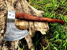 MDM NEW BIG DAMASCUS STEEL HAND FORGED TOMAHAWK AX VIKING WOOD AXE - RAZOR SHARP