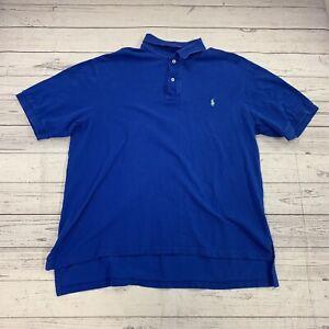 Ralph Lauren Blue Short Sleeve Polo Size XLT