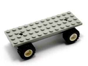 LEGO Old Light Grey Car Chassis Base 4x12 with Wheel Holders Police 6328 30278