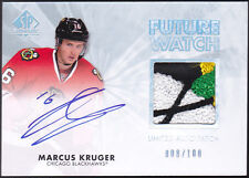 11-12 SP Authentic Marcus Kruger /100 Auto PATCH Future Watch Rookie 2011