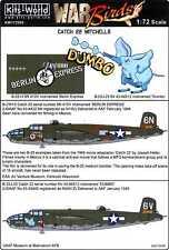 Kits World Decals 1/72 NORTH AMERICAN B-25H/J MITCHELL Dumbo & Berlin Express