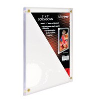 "ULTRA PRO 5"" x 7"" SCREWDOWN PHOTO HOLDER for Pictures, Cards and Postcards"