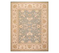 8' x 9'10'' Nourison Nourmak Hand Knotted 100% Wool Kashaan Area Rug Slate
