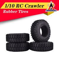 4Pcs AUSTAR 1.9 Inch 105mm Rubber Tires for 1/10 Traxxas Redcat SCX10 RC Car