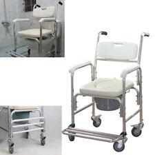 Toilettenrollstuhl Toilettenstuhl Fahrbare Badestuhl Duschstuhl WC Rollstuhl