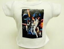 Star Wars Theme Silver Glitter Transfer T-Shirt For 16 or 18 Inch Dolls