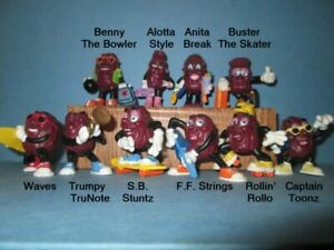 1988, '89 and '91 Hardees' California Raisins Lot of 10