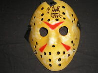 KANE HODDER Signed Jason Voorhees Mask Autograph Friday the 13th BAS BECKETT