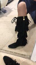 Michael KORS suede Fringe Boots Size 10