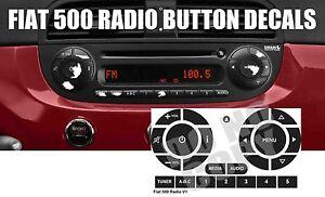 Fits FIAT 500 PREMIUM Button Restore Decals for Radio Peeling Worn Button Fix