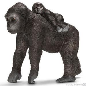 NEW SCHLEICH 14662 Female Silverback Gorilla & Baby - RETIRED