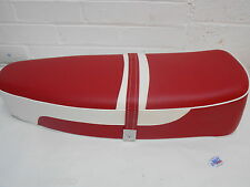 Standard Duel Seat Ox Red and White to fit Vespa PX PE LML 2T T5 Classic