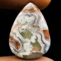 Cts. 17.95 Natural Laguna Lace Agate Cabochon Pear Cab Exclusive Loose Gemstones