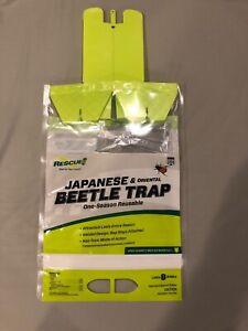 (3) Rescue Reusable Outdoor Oriental & Japanese Beetle Trap JBTZ - 3 Traps