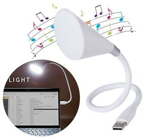 Wireless Led Lamp with Bluetooth Speaker Flexible and Adjustable Goose-Neck USB