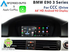 """BMW E90 3 Series CCC iDrive - Touch 8.8"""" Android 9 Auto & Apple CarPlay display"""