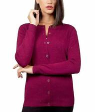 NEW!!! Nicole Miller Women's Metallic Yarn Cardigan Sweater (Berry size M)