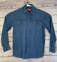 Wrangler Men's Long Sleeve Button-down denim Shirt Size S
