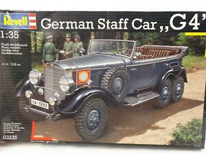 Revell 03235 1:35 WW2 German Staff Car G4 Mercedes Plastic Scale Model Kit 15cm