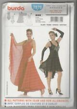 Burda Sewing Pattern 7879 Ballroom Dance Salsa Latin Ballet Tango Dress Sz 10-20