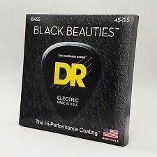 DR BKB5-45 Black Beauties Coated BASS Guitar Strings 45-125 5-string gauge