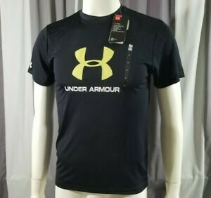 Brand New Men's HeatGear Under Armour UA Short Sleeve Black Shirt NWT #1293940