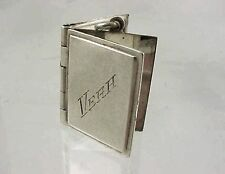 Vintage NMK Sterling Silver Movable THREE PAGE BOOKLET ~ VERA~ Charm