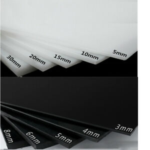 HDPE Sheet White Black Polyethylene Engineering Plastic HDPE Plate 3mm 4mm 5mm