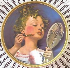 Making Believe At The Mirror Plate 4th In Series Norman Rockwell Number 10758Q