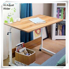 MOBILE OVERBED TROLLEY TABLE LAPTOP IPAD STUDY HOSPITAL HALL DESK WIDER HI ADJUS