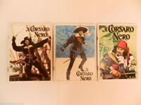 Tre quaderni d'epoca del corsaro nero anni 60 disegni di aldo capitanio vintage