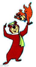 "4"" Yogi bear & boo boo on hand jellystone park mini fabric applique iron on"