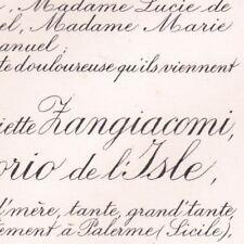 Marie Joséphine Paule Henriette Zangiacomi Henri Morio De L'Isle Palerme 1904