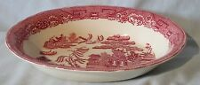 Midwinter Pink Willow Oval Serving Bowl 9 3/4