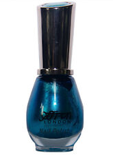 Sparkling BLUE Metallic Nail Polish / Varnish Saffron London 54 Blue Speckle