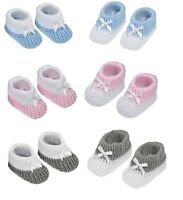 SOFT BABY KNITTED Bootees Boot Socks Newborn Infant Unisex Baby Shower Gift
