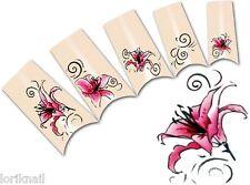 Nail Art Wasser Tattoo Aufkleber für Nageldesign  BLE1817 Lilien Ornamente