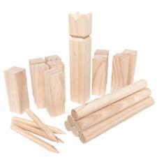 XL Kubb Wurfspiel Wikingerspiel Rasenschach Outdoor Spiel Wurfspiel Schach Holz
