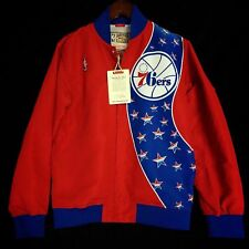 100% Authentic Mitchell & Ness Sixers Warm Up Jacket Size 40 M - dr j iverson