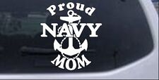 Proud Navy Mom Anchor Car or Truck Window Laptop Decal Sticker White 6X6.5