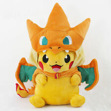 "9"" Pokemon Pikachu With Charizard Hat Pocket Monster Plush Toy Stuffed Doll Gift"