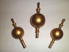 3 in legno dorato oro Longcase Orologio ornamenti... (1 GRANDI & 2 più piccola)