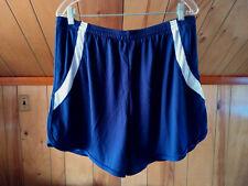 NEW Mens BLUE Soft & Silky Light Running Shorts lined 3XL tie Waist