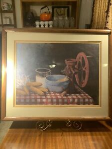 Oak Framed Limited Edition Print~Al Cornett~84~Scratch For The Chickens~Country
