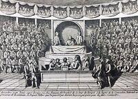 Rarissime Procès Louis 16 1792 Gravure ancienne révolution Française Valazé