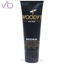 WOODY'S Quality Grooming For Men Brickhead 4oz, Firm Hold Matte Styling Gel