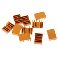 MagiDeal 10 Pieces GPU CPU Thermal Heatsink Pad, 13.7x20x6mm, Aluminum