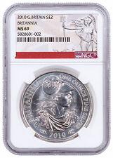 Great Britain 2010 £2 Britannia 1 oz Silver Uncirculated