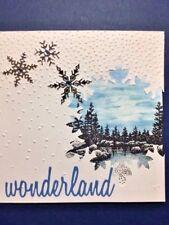 Stampin Up FESTIVE FLURRY & FRAMELITS bundle winter snow scenic christmas scene